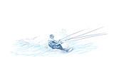 water skiing (this is original sketch)