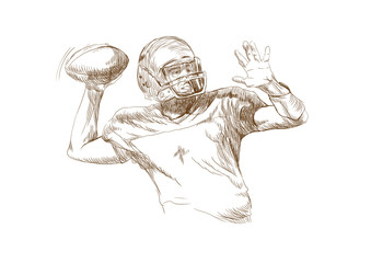 american football player (this is original sketch)