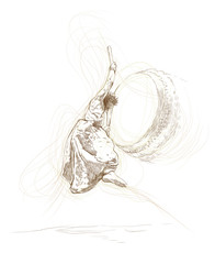 japan dancer (this is original sketch)