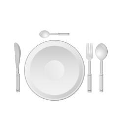 dinner service vector illustration