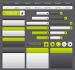 Green and grey web design elements.