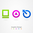 graphic design Internet icons.