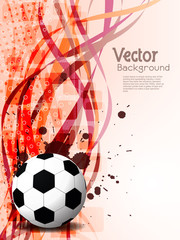 Abstract beautiful football background design