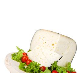 Pecorino with tomatoes and salad