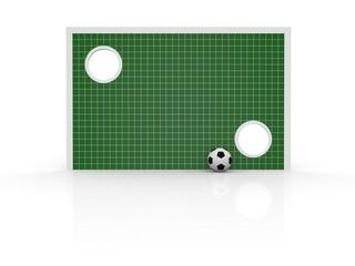 Torwand mit Fussball