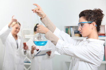 female technicians in laboratory