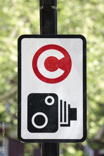 Congestion charge signpost