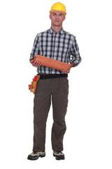 Portrait of a roofer