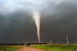 Leinwanddruck Bild - Strong tornado in Kansas