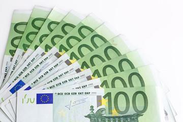 grupo de billetes de 100 euros
