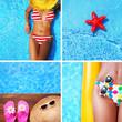 Set od summer holiday images