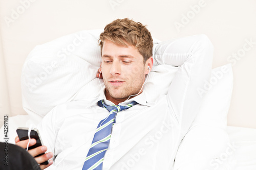 young businessmen with smartphone