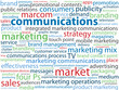 """MARKETING COMMUNICATIONS"" tag cloud (brand product marcom)"