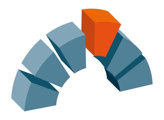 Logo Signet Brücke Bausteine Treffen Schlussstein m QXP9 Datei