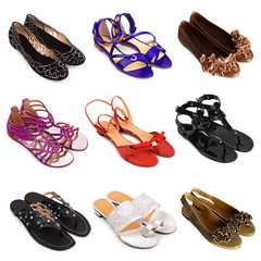 Multicolored female shoes-5