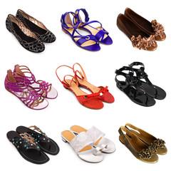 Multicolored female shoes-5