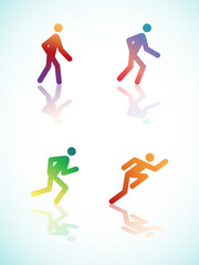 Gradient Running Pictograms