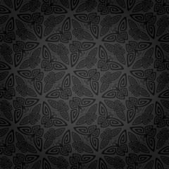 Seamless ornamental butterfly pattern