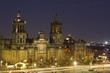 zocalo in mexico city at night