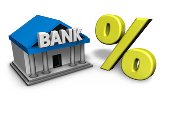 Bank And Percentage Symbol