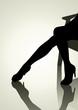 Silhouette illustration of woman legs