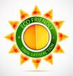 Eco friendly sun label
