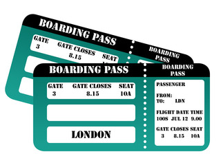 London 2012 boarding passes