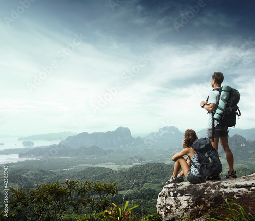 Leinwandbild Motiv Backpackers