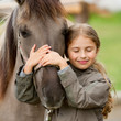 Horse whispers - Horse and lovely girl - best friends - 42306169