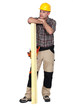 woodworker posing