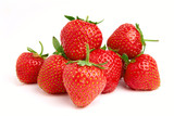 Fototapety Strawberries isolated over white background