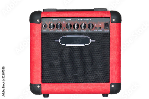 red guitar amplifier