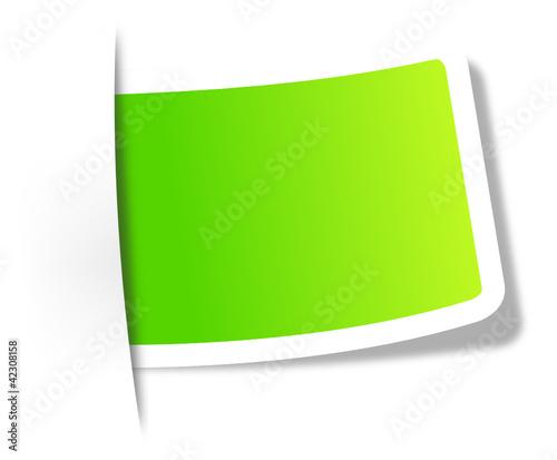 Grünes Etikett
