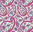 colorful paisley floral pattern , textile , Rajasthan, India