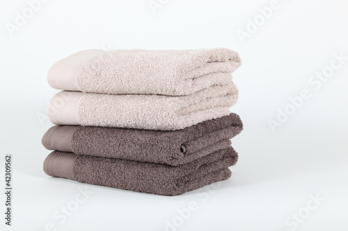 Neatly folded towels