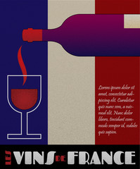 Vector france wine poster or label