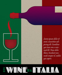 Vector italy wine poster or label