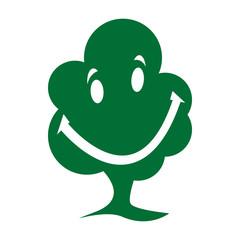 Baum Gesicht Lächeln Lachen Freundlich Icon mit QXP9  Datei