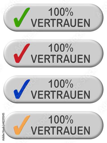 4 CB-Button grau 100% VERTRAUEN