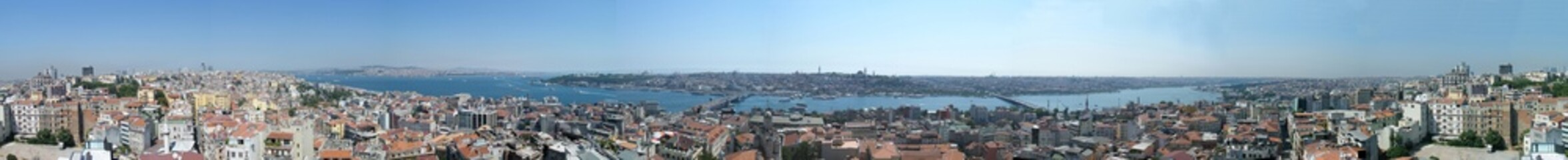 Galata Bridge and Bosphorus panoramic