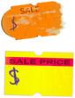 set of vinatge price stickers, adhesive labels, vector illustrat