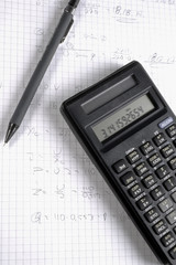 Pen and Calculater