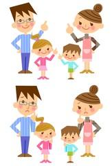 家族 親子 表情
