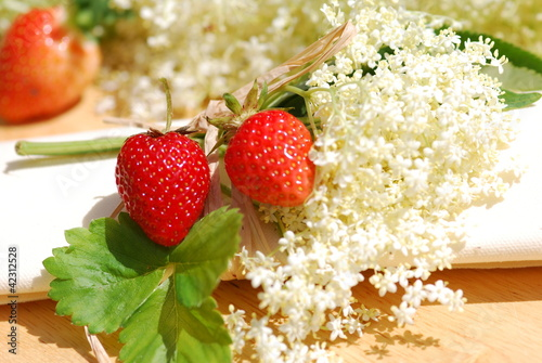 Elderflower herb table decorations
