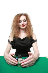 winning poker isolated