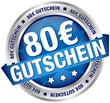 """Button Banner """"80 € Gutschein"""" blau/silber"""