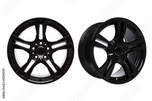 Black Coated Alloy Whels