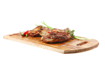 roast meat : chicken legs