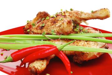 grilled quarter chicken