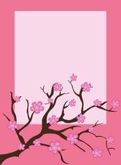 Pink spring floral